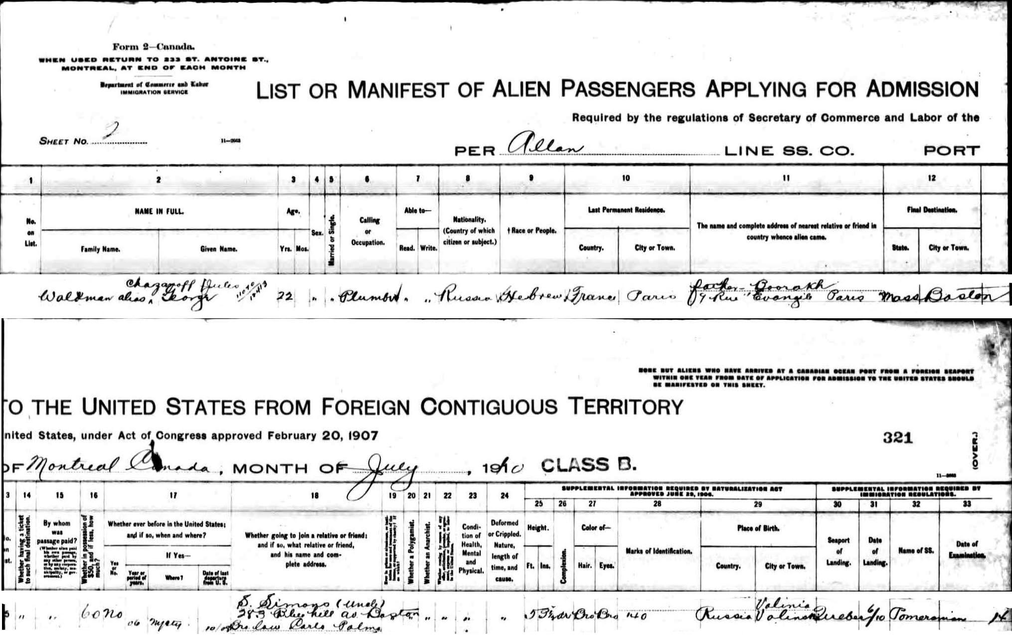 Waldman Family of Paris and Massachusetts