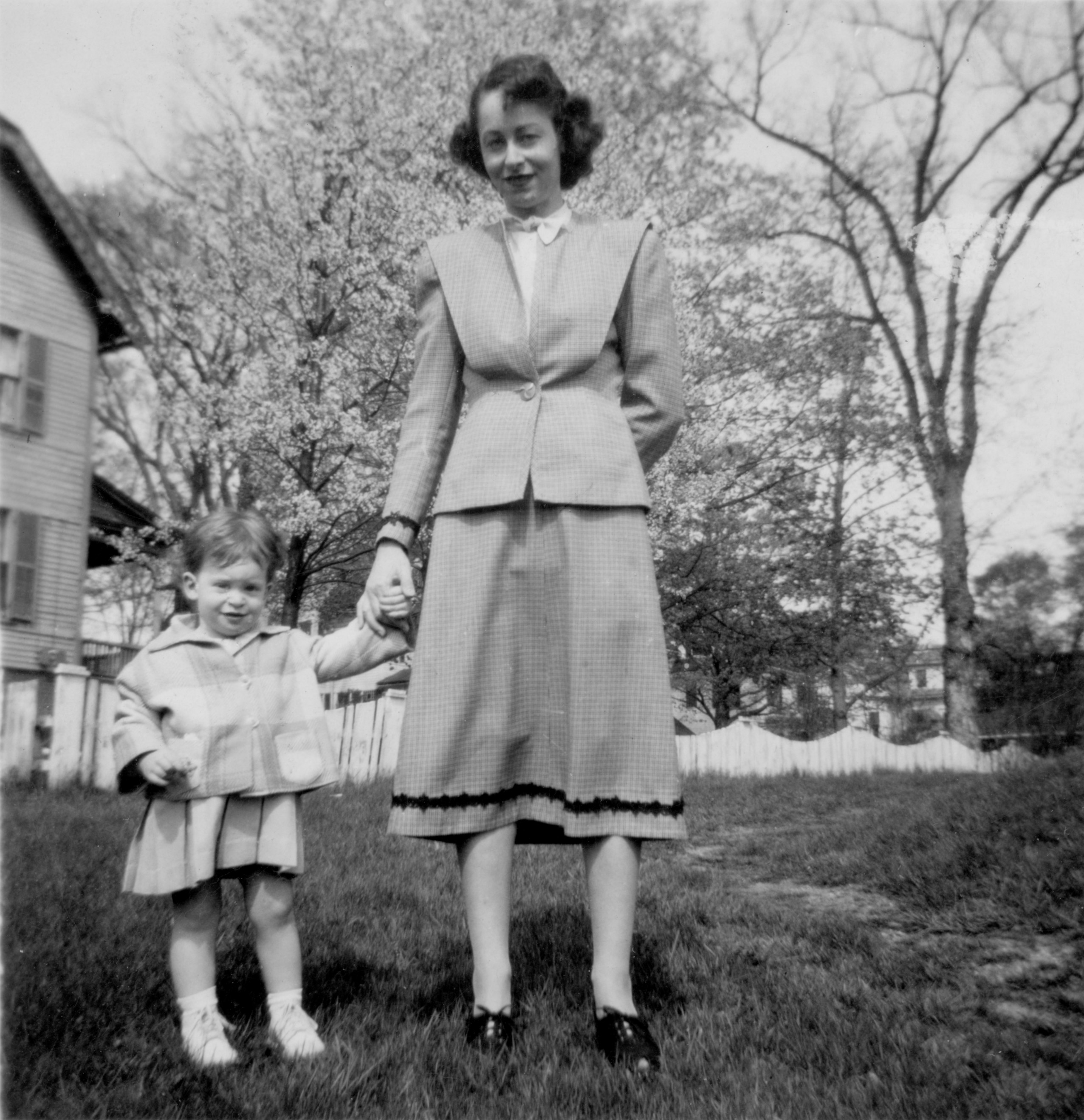 Spring 1949 Barbara and Anne Stack